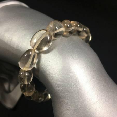 Tumbled Stone Bracelet Clear Quartz MINERALS Crystal Healing Chakra -1