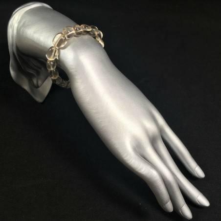 Tumbled Stone Bracelet Clear Quartz MINERALS Crystal Healing Chakra -2
