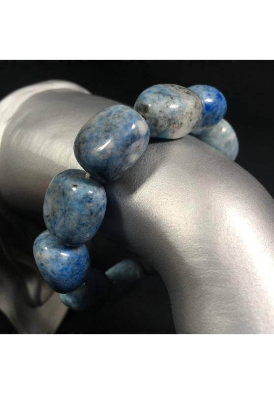 Bracciale Burattato di LAPISLAZZULI Braccialetto Cristalloterapia Qualità Zen A+-1