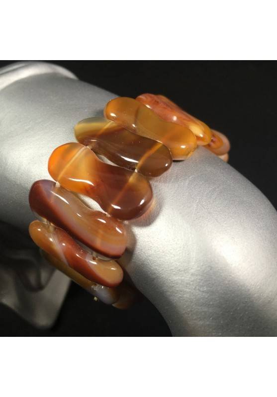 Bracelet in Special CARNELIAN AGATE Color Crystal Healing Chakra-1
