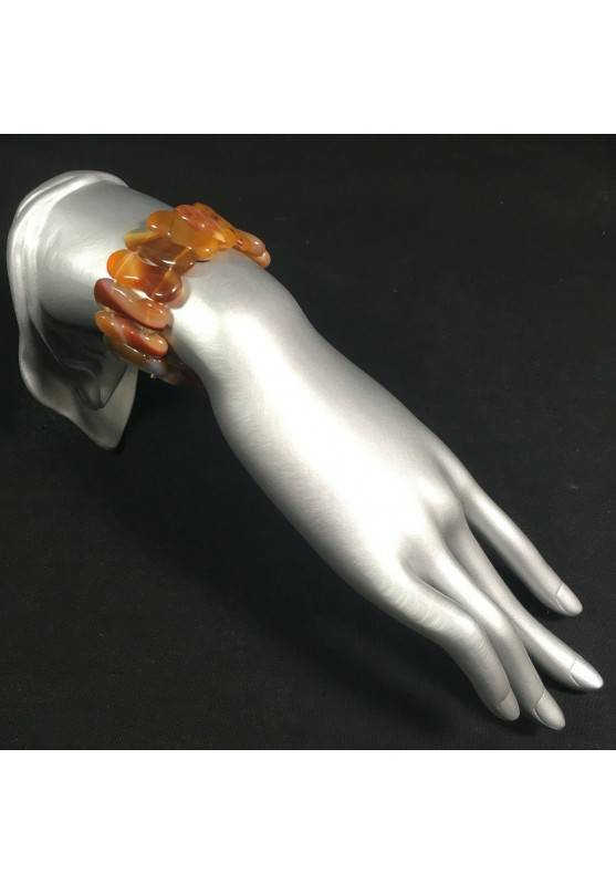 Bracelet in Special CARNELIAN AGATE Color Crystal Healing Chakra-2