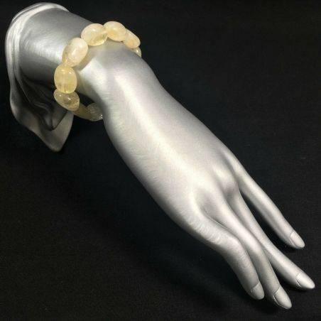 Tumble stone CITRINE QUARTZ Yellow Quartz Bracelet- VIRGO ARIES GEMINI Crystal-2