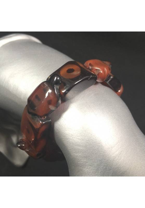 Special Bracelet in CARNELIAN Turtles Elasticated Bead Crystal Healing Zen A+-1
