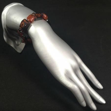 Special Bracelet in CARNELIAN Turtles Elasticated Bead Crystal Healing Zen A+-2