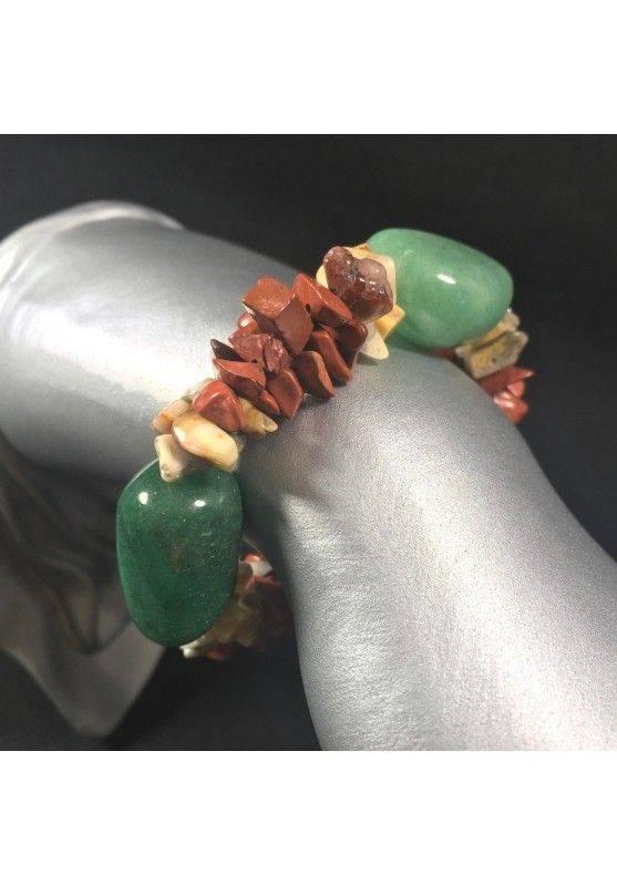 Bracelet in Red OCEAN JASPER & AVENTURINE Crystal Healing A+-1