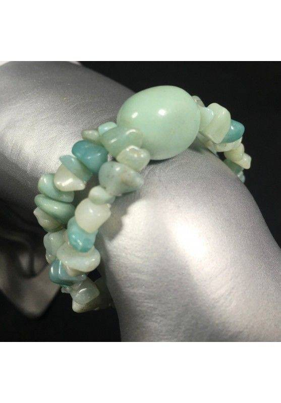 Hemimorphite Chips Bracelet with Tumbled Stone Crystal Healing Zen A+-1