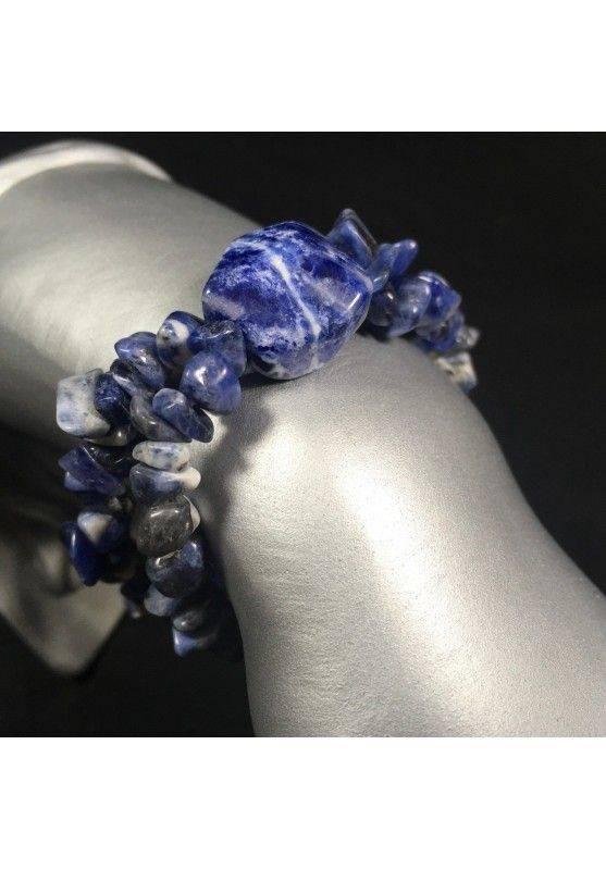 SODALITE Chips Bracelet Crystal Healing Handmade Minerals Chakra A+-1