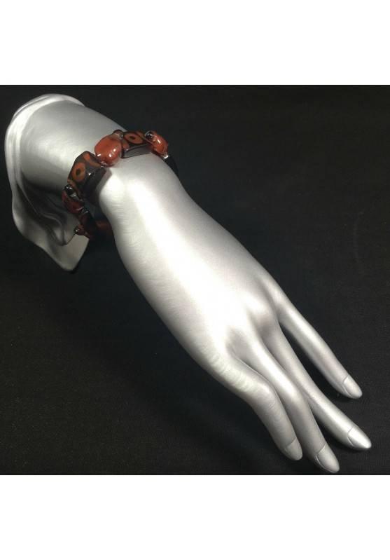 Special Bracelet in CARNELIAN Turtles - LEO CANCER TAURUS Zen A+-2