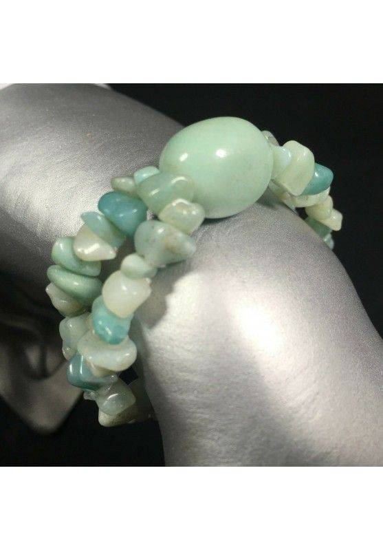 Hemimorphite Chips Bracelet with Tumbled Stone Beads Elasticated Chakra Reiki A+-1