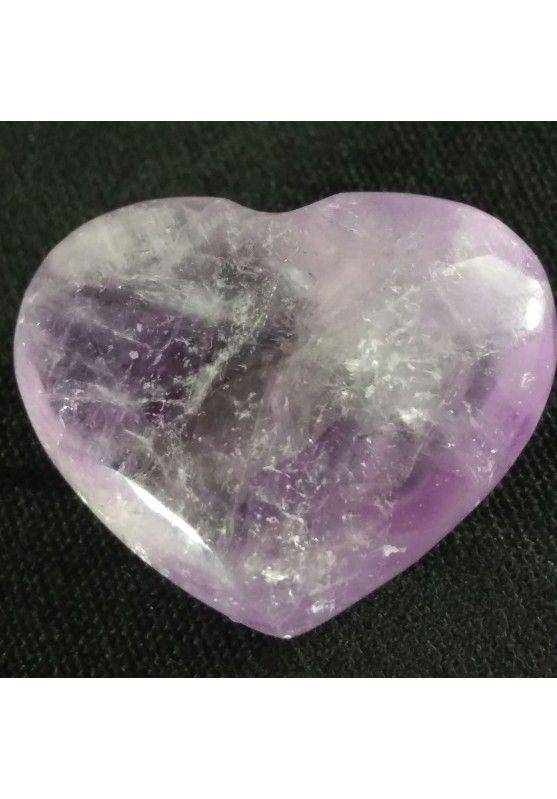 HEART Handmade in AMETHYST of URUGUAY LOVE Crystal Healing VALENTINE'S DAY-1