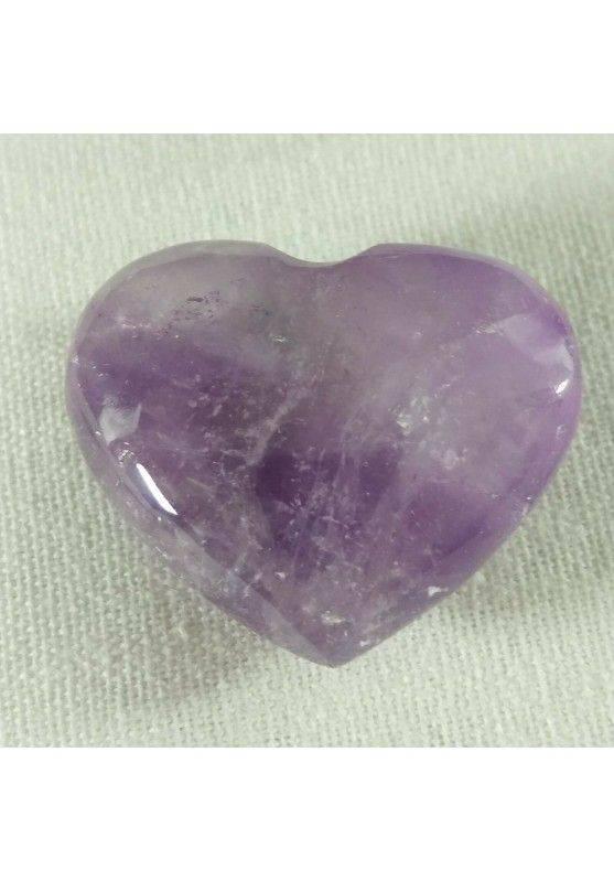 HEART Handmade in AMETHYST of URUGUAY LOVE Crystal Healing VALENTINE'S DAY-2