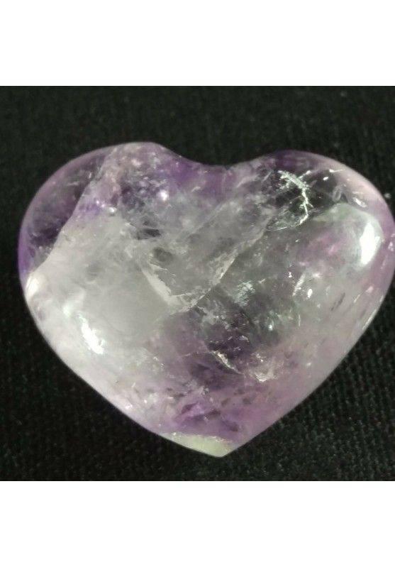 HEART Handmade in AMETHYST of URUGUAY LOVE Crystal Healing VALENTINE'S DAY−3