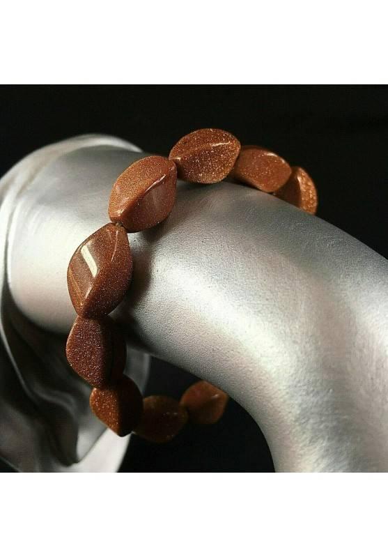 Red SUN STONE Bracelet UNISEX Red Sand Sunstone Bracelet Healing Chakra-1
