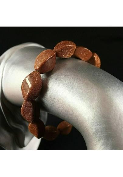 Braccialetto in Pietra del Sole Bracciale UNISEX Red Sand Sunstone Bracelet-1