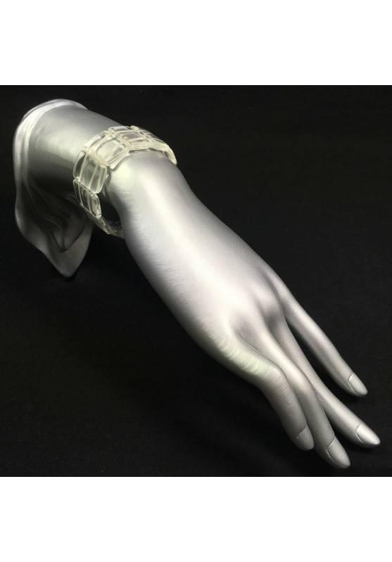 Braccialetto in Piastre in Quarzo Ialino Bracciale Hyaline Quartz EXTRA Bracelet-1