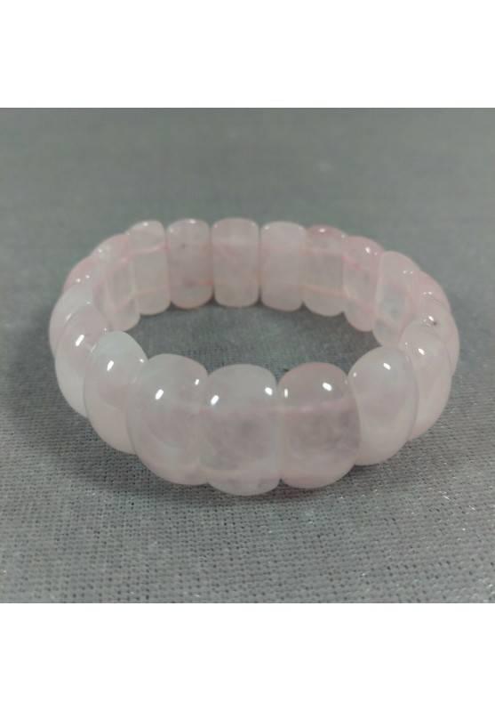 Braccialetto in Quarzo Rosa ALTA QUALITA' Bracciale Amore Rose Quarz Bracelet A+-3