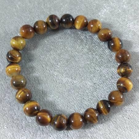 Tiger's Eye Spherical Beads Bracelet 9mm UNISEX Tiger Eye Bracelet Chakra Stone-4