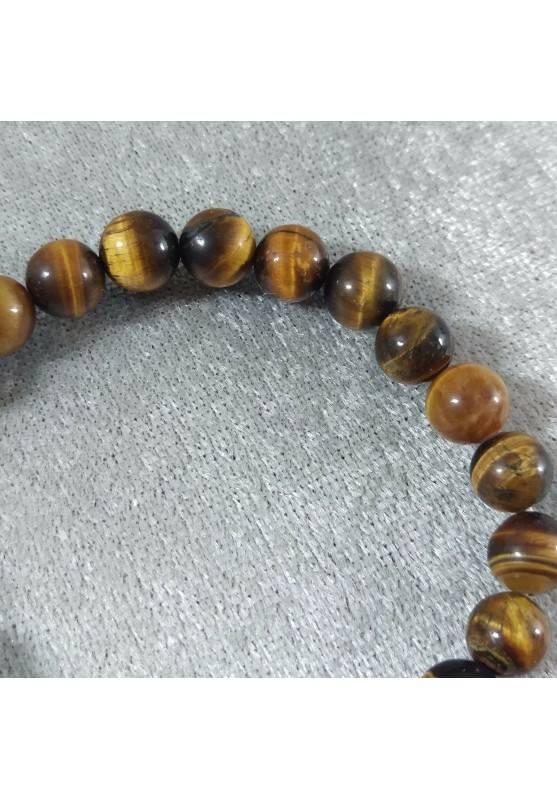Tiger's Eye Spherical Beads Bracelet 9mm UNISEX Tiger Eye Bracelet Chakra Stone-5