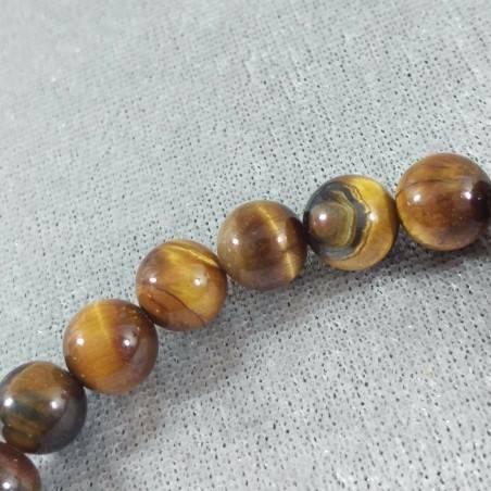 Tiger's Eye Spherical Beads Bracelet 9mm UNISEX Tiger Eye Bracelet Chakra Stone-7