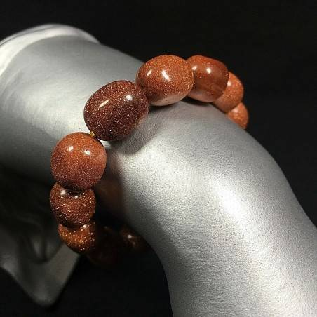 Tumbled SUN STONE Bracelet Special Sunstone Beads Elasticated Handmade Gemstone-1
