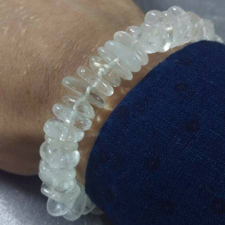 Braccialetto in Quarzo Ialino a Scaglie Bracciale UNISEX Hyaline Quartz Bracelet-2