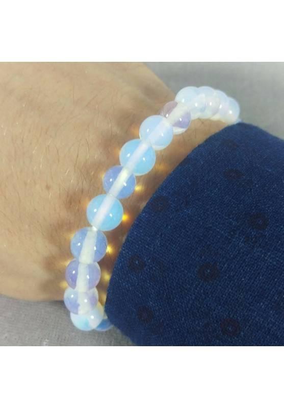 Bracelet in Spherical Beads of OPALITE Quartz Unisex Opalite Sphere Bracelet A+-1
