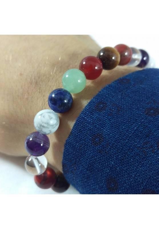 7 Chakra - Seven Chakra Bracelet Carnelian Rose Quartz Red Jasper Clear Quartz Beads-2