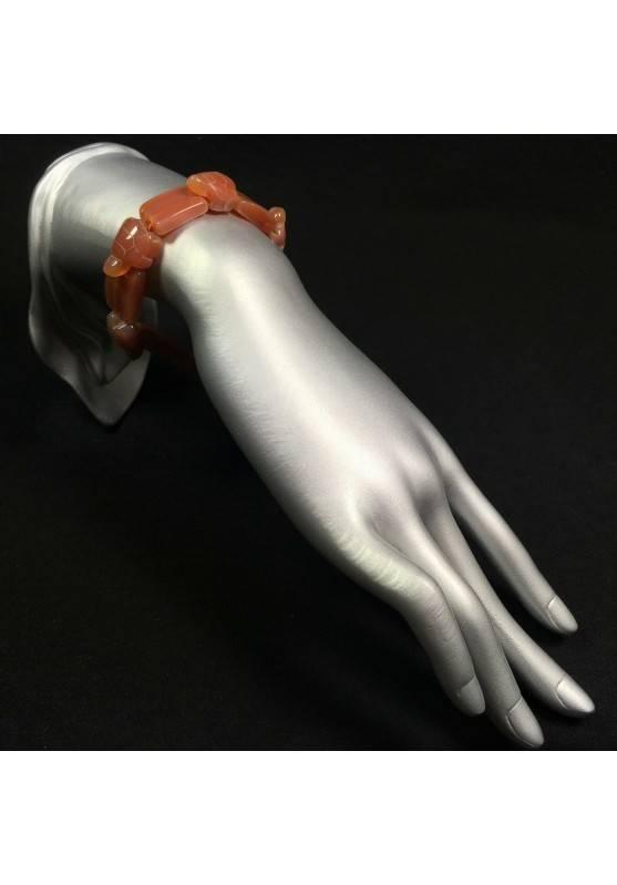 Braccialetto in CORNIOLA Tartarughe Pietra Naturale Bracciale Cristalloterapia-2