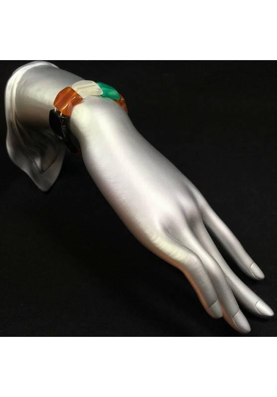 Bracelet in AGATE Nera , Bianca , Green CARNELIAN Bracelettto Crystal Healing-2