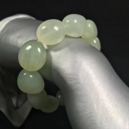 Braccialetto in Burattati di GIADA Verde Bracciale Natural Green Jade Bracelet-1