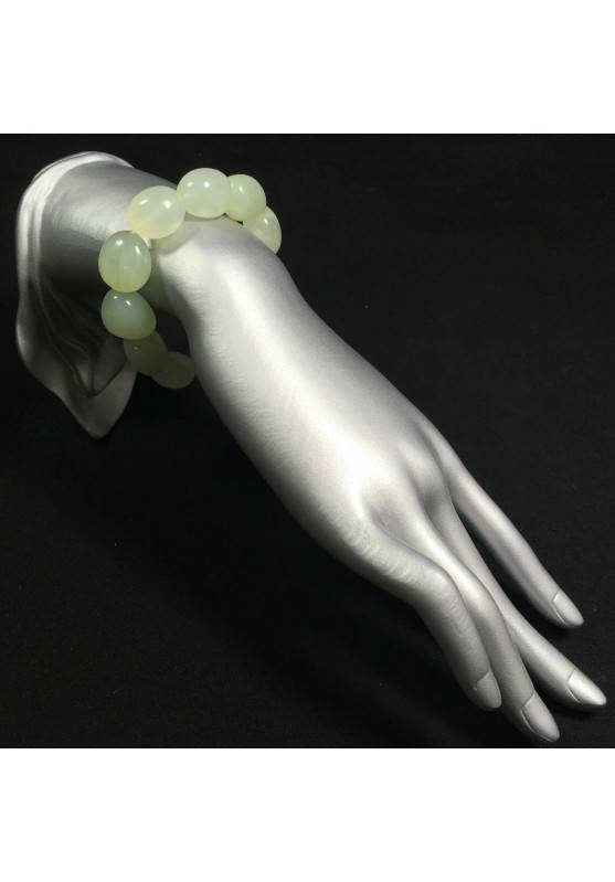 Green JADE Tumbled Stone Bracelet Natural Elasticated Minerals Stone Beads-2