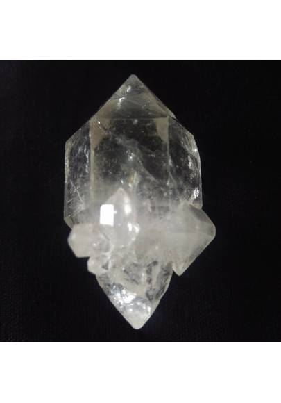 MINERALS * Double Terminated Herkimer Scepter Quartz CRYSTAL Point-1