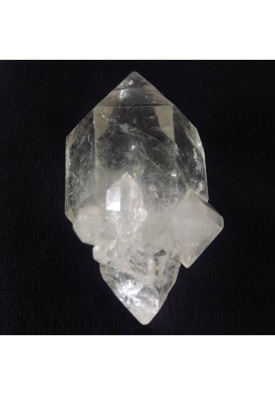 MINERALS * Double Terminated Herkimer Scepter Quartz CRYSTAL Point−3