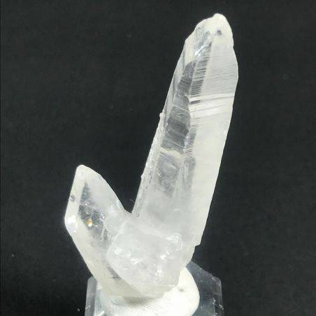 Double Terminated Natural of Rough Hyaline Quartz Clear Crystal Double POINT−3