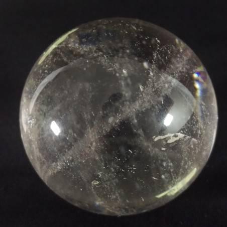* MINERALI * SFERA in QUARZO IALINO con Spiriti Diam: 4,2 cm Cristallo di Rocca-1