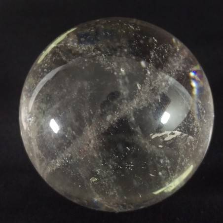 MINERALS * Natural CLEAR QUARTZ Sphere Ball with Spiriti Diam: 4,2 cm-1