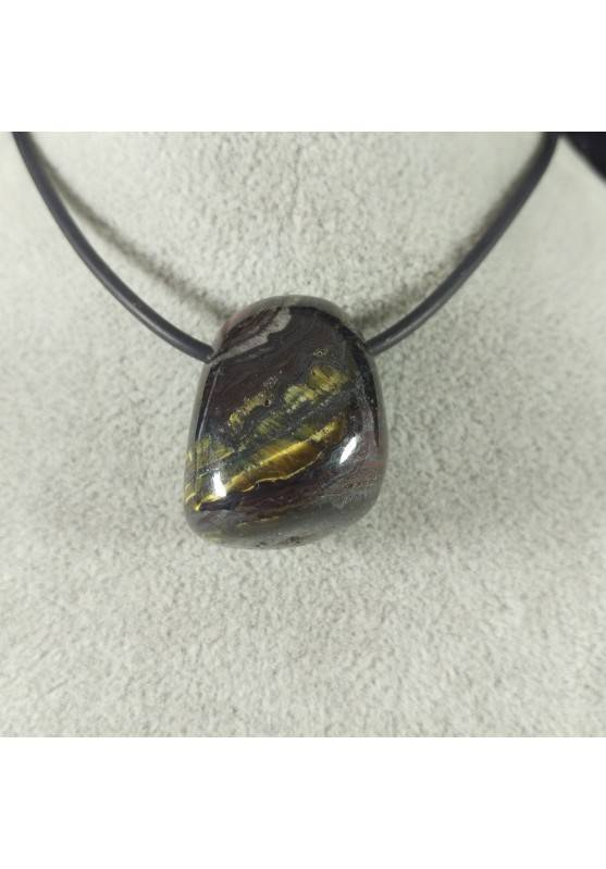 Pendant Bead in TIGER IRON EYE Hematite Necklace - SCORPIO CAPRICORN LEO-2