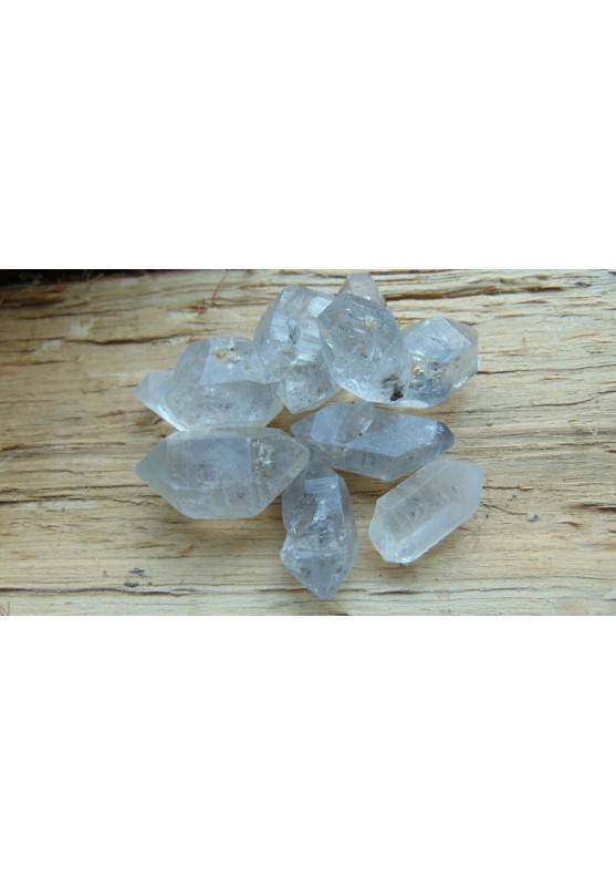 Double Terminated Clear QUARTZ Crystal HERKIMER [Pay Only One Shipment-1