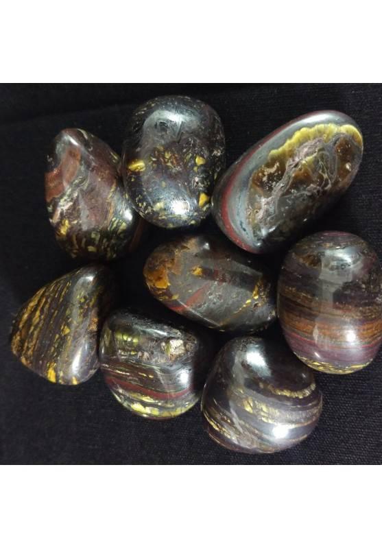 OCCHIO di FERRO Burattato Minerali Alta Qualità A+ [ Tumbled Tiger Iron Minerals-2