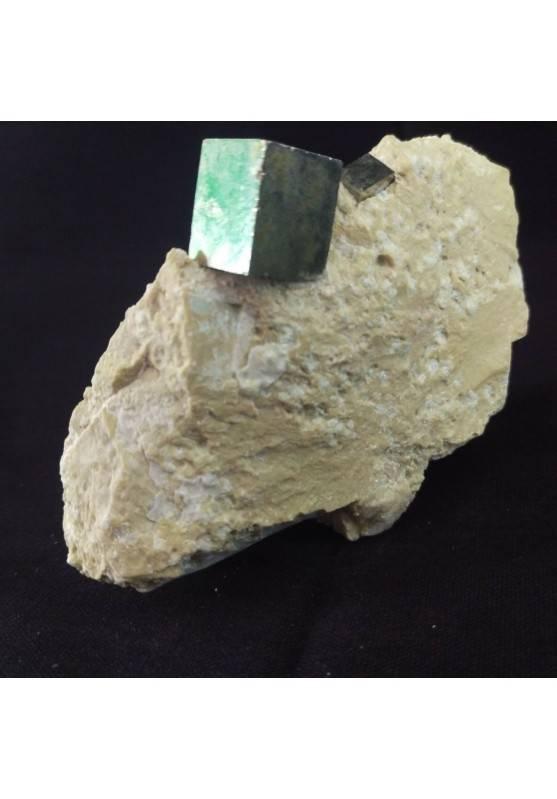 MINERALS * Cubic Pyrite on Matrix from Navajun Spain 74x32x56mm - Specimen−3