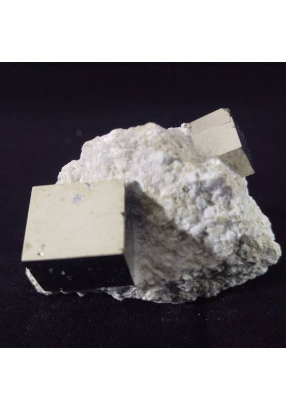 MINERALS * Wonderful Cubic Pyrite on Matrix from Navajun Specimen (Spain)-1