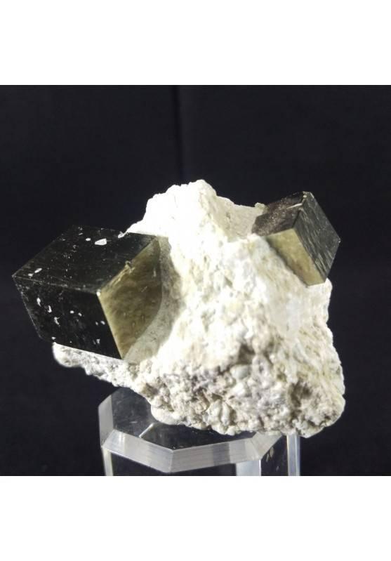MINERALS * Wonderful Cubic Pyrite on Matrix from Navajun Specimen (Spain)-2
