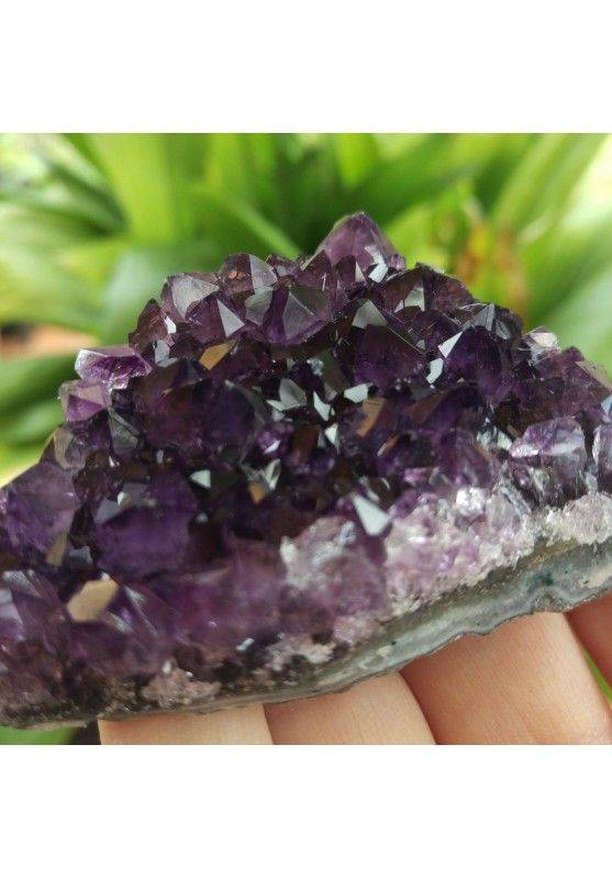 SEMI GEODE AMETHYST Purple CM.7,8 x 5,8 x 2,5 URUGUAY VERY HIGH QUALITY MINERALS-2