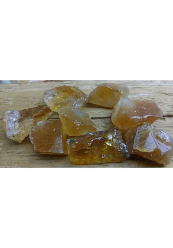Calcite Mielata Ambrata Grezza Cristalloterapia [ Honey Calcite Raw Rough Stone-1