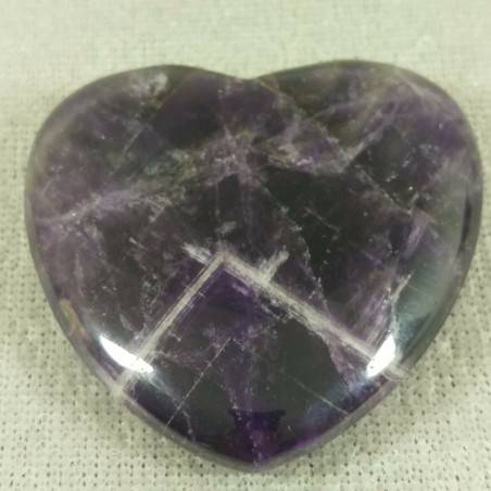 HEART in Dogtooth AMETHYST of URUGUAY LOVE Crystal Healing VALENTINE'S DAY-1