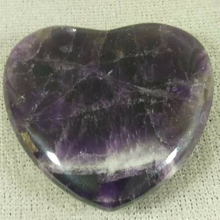 HEART in Dogtooth AMETHYST of URUGUAY LOVE Crystal Healing VALENTINE'S DAY-2