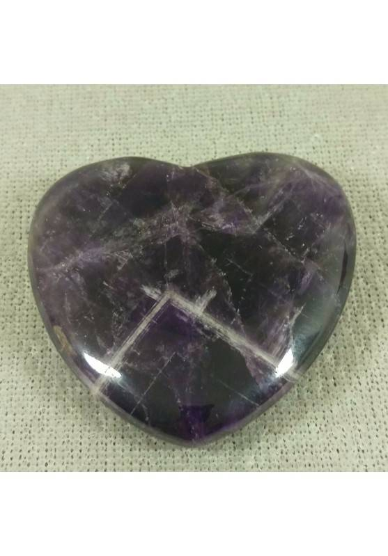 HEART in Dogtooth AMETHYST of URUGUAY LOVE Crystal Healing VALENTINE'S DAY−3
