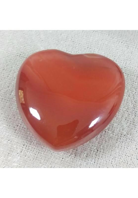 CUORE in AGATA CORNIOLA Bellissima Qualità! AMORE Cristalloterapia Minerali Rari-1