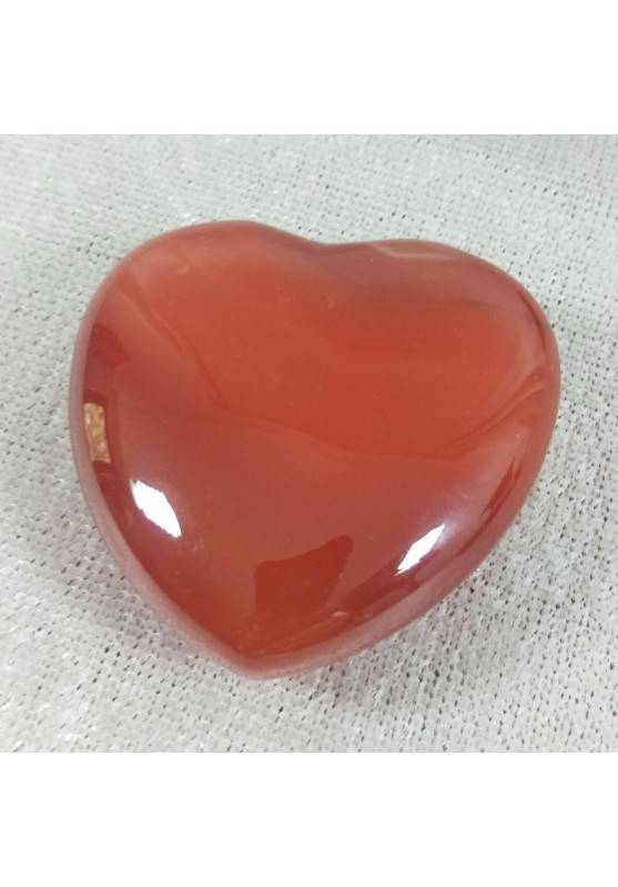 HEART in CARNELIAN AGATE Wonderful Quality! LOVE Crystal Healing MINERALS Rari-1