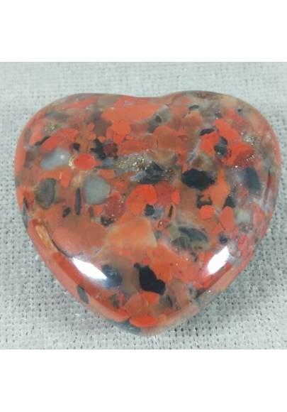 HEART in RED Brecciated JASPER LOVE Crystal Healing MINERALS Gift Idea Chakra-1